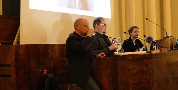 Olli-Pekka Vainio, Aku Visala ja Hanne Appelqvist seminaarin viimeisessä keskustelussa. Kuva: Miikka Niiranen