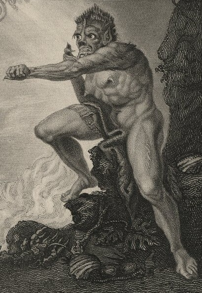 Henry Fuseli: Caliban (yksityiskohta)