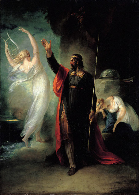 William Hamilton: Ariel ja Prospero. Wikimedia Commons. PD.